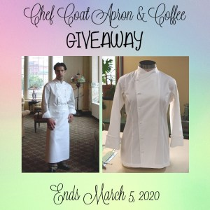 chef coat apron and coffee giveaway