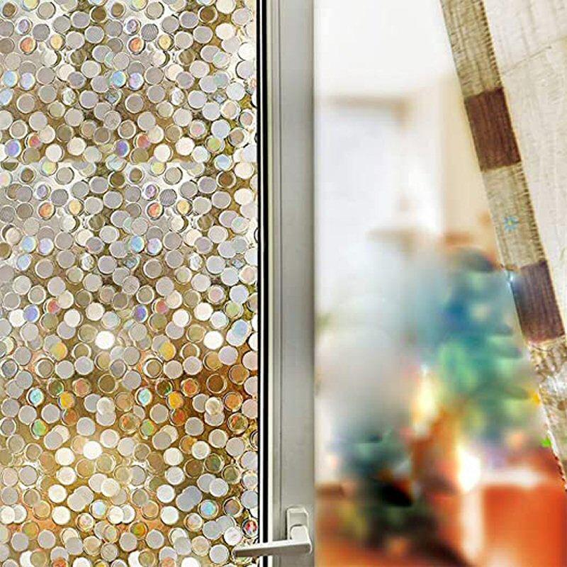 decorative window film sliding door