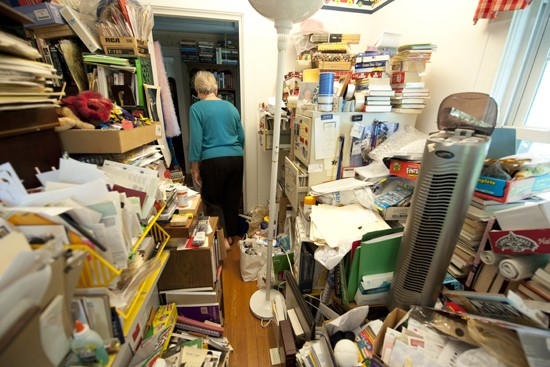 hoarded home