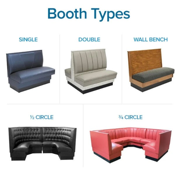 types of restaurant booths