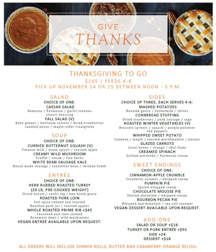 omni richmond hotel thanksgiving 2020 menu