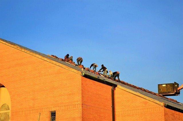 Roofing, Contractors, Church, Builder, Lift, Ladder