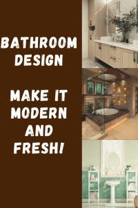 bathroom design, modern, fresh