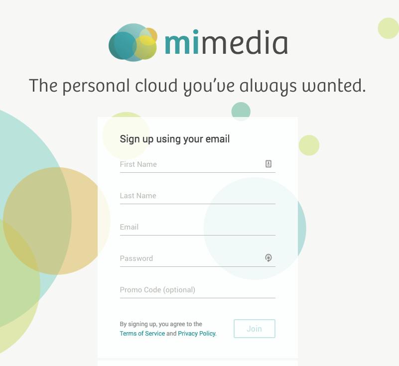 MiMedia Signup