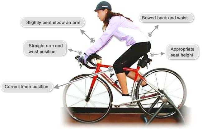 correct bicycle posture