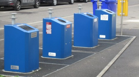 A standard Basel recycling station