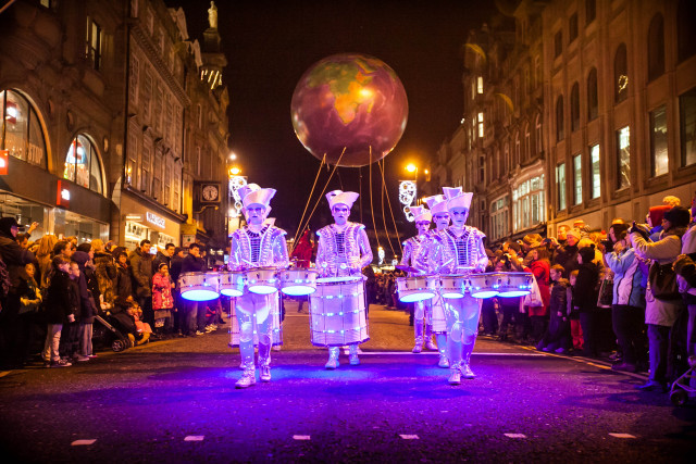 The New Year's Eve Winter Carnival parade