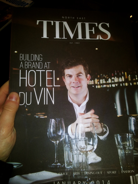 Rob Tait on the cover of this month's North East Times