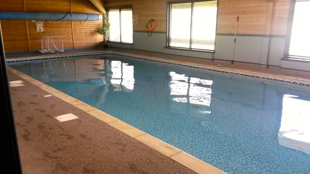 We had the indoor pool at Leaplish all to ourselves!