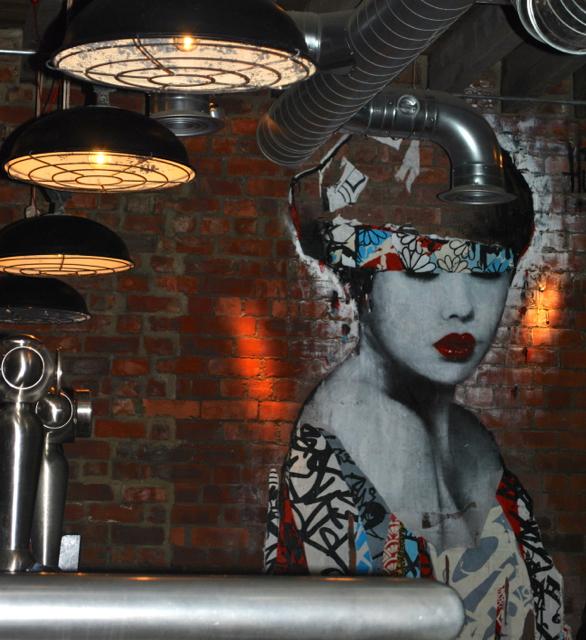 Artwork inside the Bridge Tavern (upstairs)