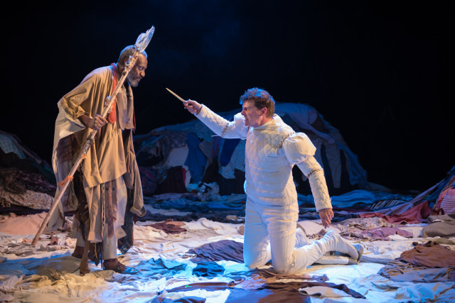 Tyrone Huggins as Prospero and Chris Price as Ferdinand in the Tempest