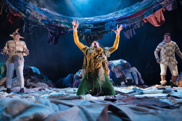 l-r Hannah McPake Peter Peverley and Tony Bell in the Tempest
