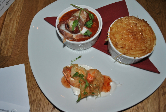Sample sizes of the amazing fish dishes available