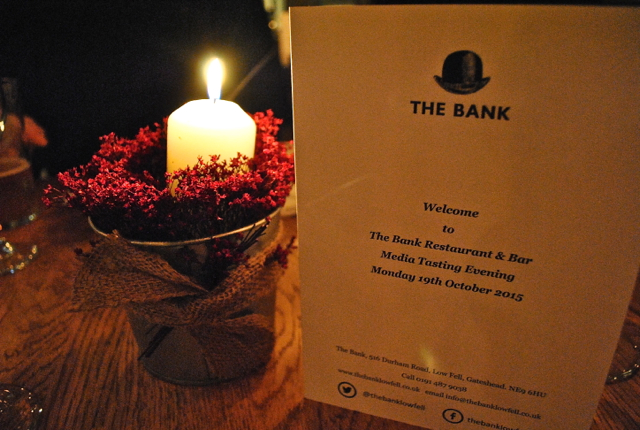 The Bank Low Fell Gatehead Media VIP Menu