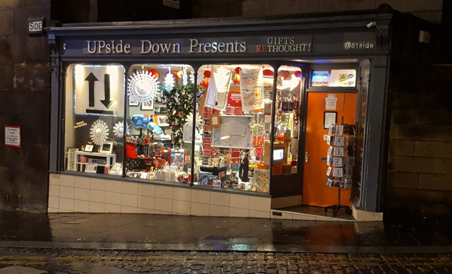 upside down presents newcastle quayside