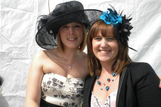 Rocking a big hat at Ladies Day a few years ago!