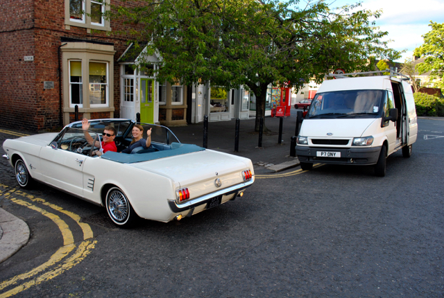 Notice the reg on the van, 'Pony' is an affectionate name for Mustang so we couldn't resist this pic!