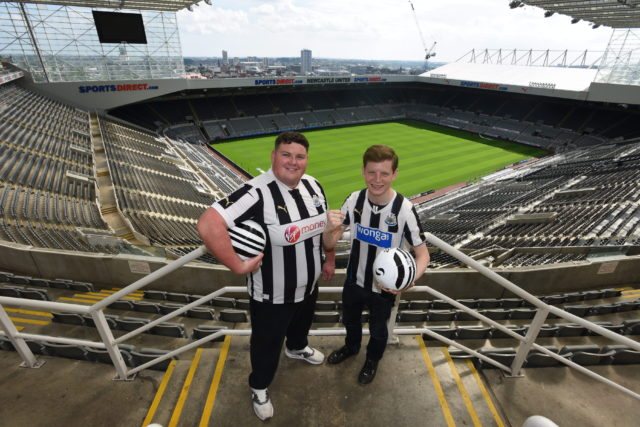 Dated: 22/07/2016 North East talent to star in Northern Stage's new stage adaptation of Purely Belter- a story of friendship, family and football that follows two young lads from the wrong side of the tracks as they try to raise enough money to buy a season ticket for their beloved Newcastle United. Pictured is Niek Versteeg, who plays Gerry, and Will Graham who plays Sewell in the stage adaption. #NorthNewsAndPictures/2daymedia