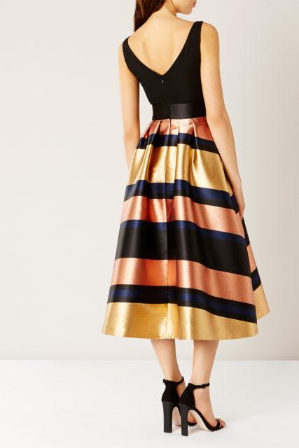 The Rita Metallic Stripe Dress