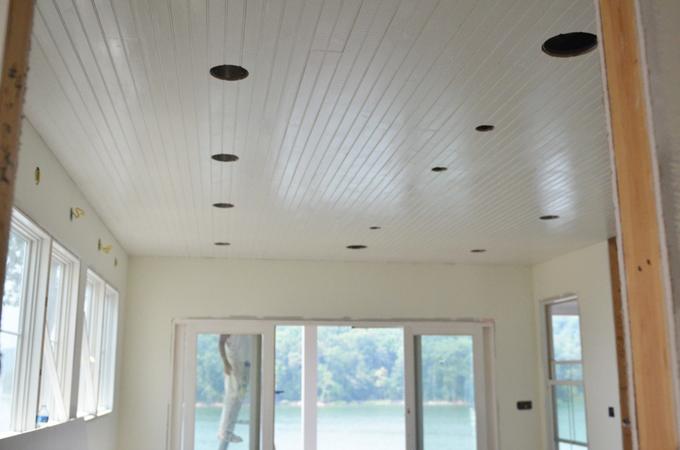 painted wood ceilings