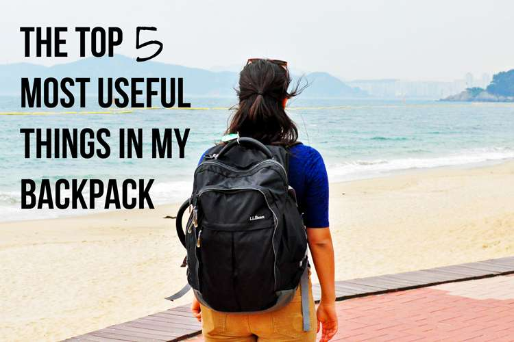 Top 5 Most Useful Things I Pack When Travelling