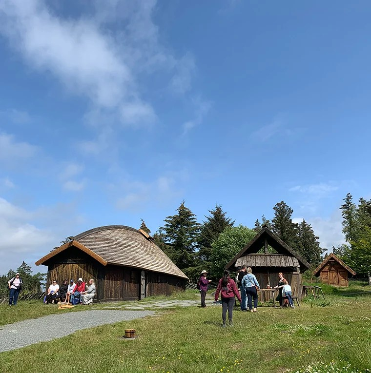 The viking farm at Avaldsnes in western Norway