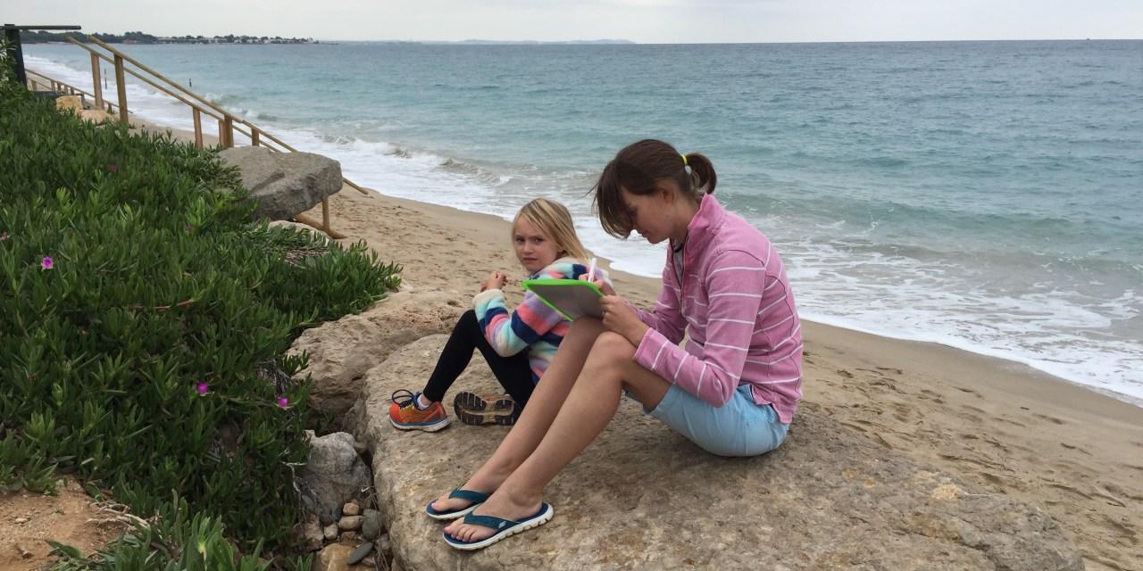 LifeinourVan – Homeschooling and a  work day beside the beach!