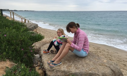 LifeinourVan – Homeschooling and a  work day beside the beach!
