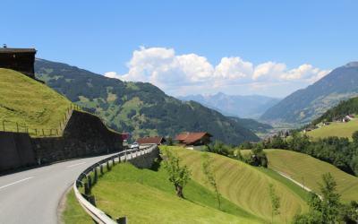 Austria   Taking the Gerlos Alpine Pass to Camping Aufenfeld