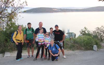 Finding Family Adventures in Croatia : Rock Climbing in Split