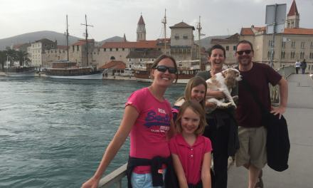 Trundling around Trogir with 'OurTour'