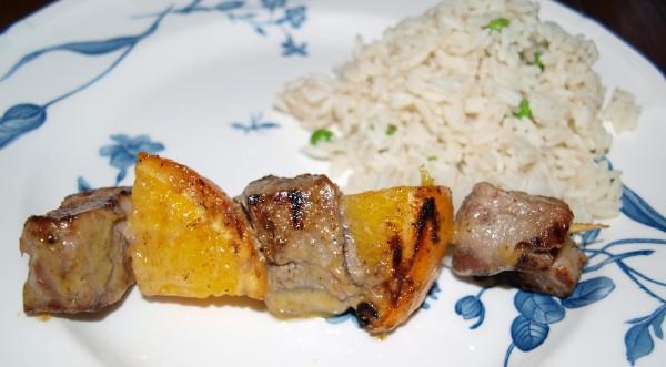 pan grilled pork kebabs