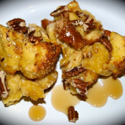 Frangelico French Toast with Pecans