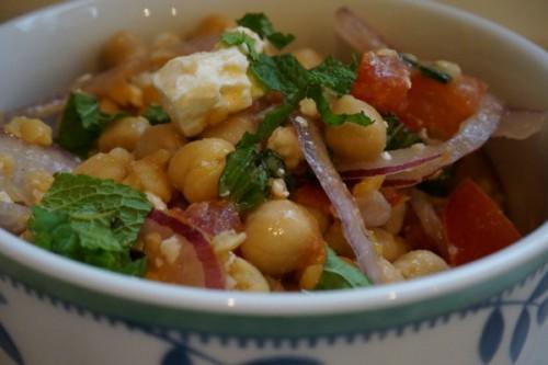 chickpea salad final bowl