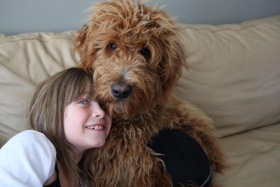 picture taken with dog wearing underwear