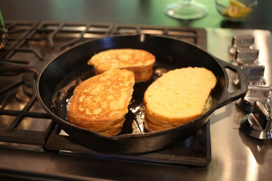 Chocolate stuffed french toast 1