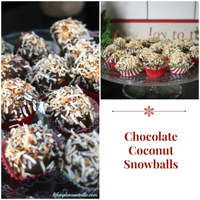 chocolate coconut snowballs