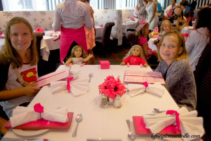 American girl, dining, meals