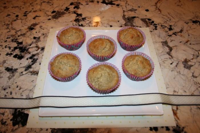 gluten-free, vegan banana muffins