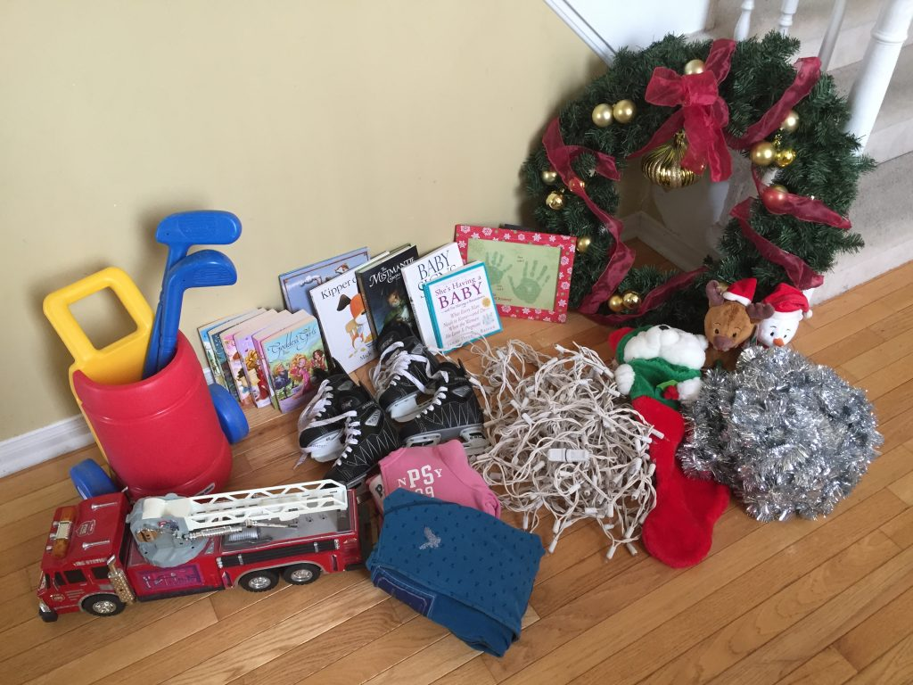 how to get organized for Christmas, Items for donation