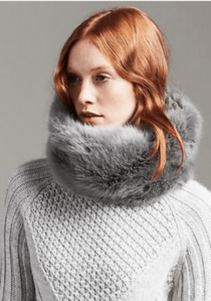 10 Stocking Stuffers For Fashionistas, faux fur, grey, Banana Republic