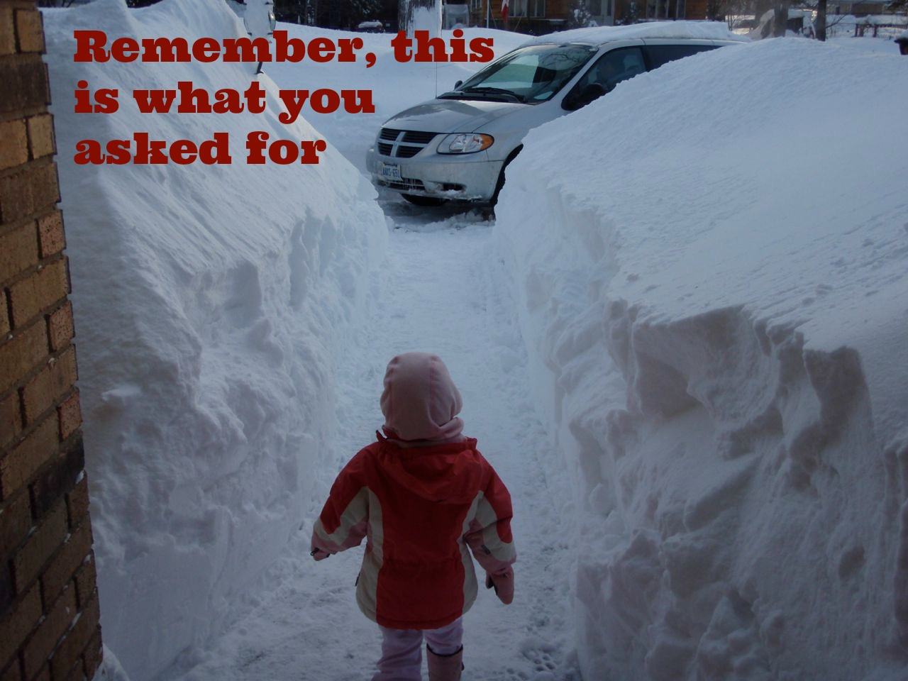 how to make a snow day happen, huge snow drifts, snow day