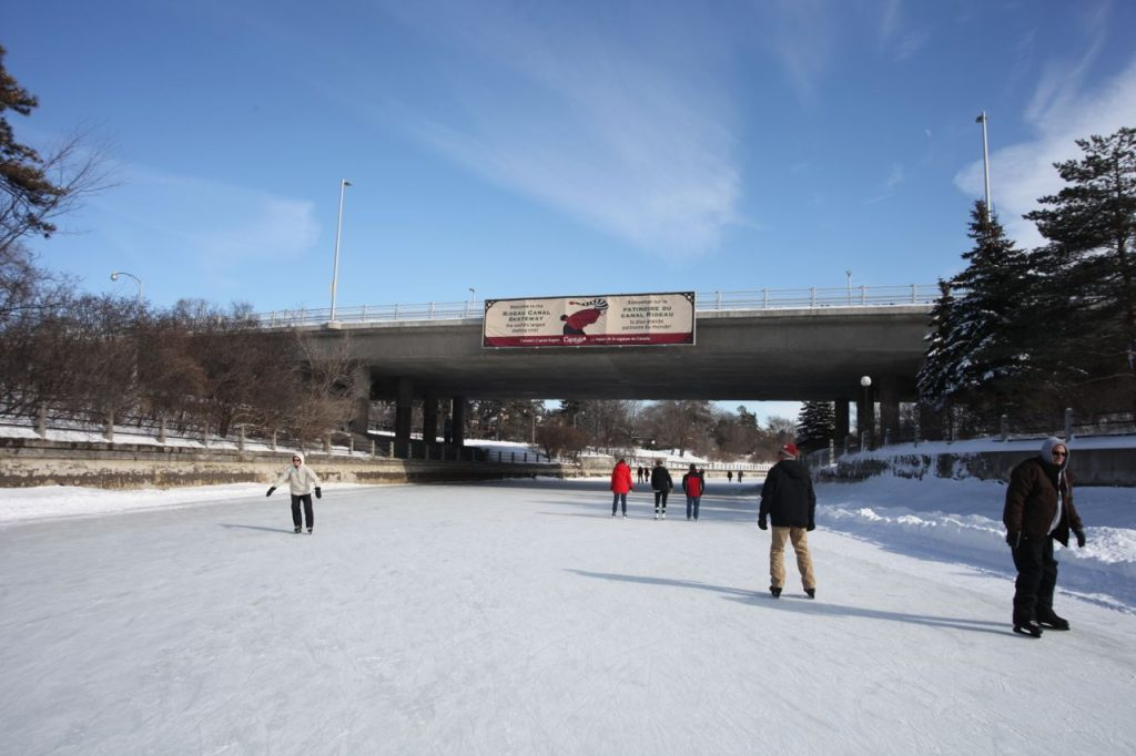 Winter wonderland, Rideau Canal, Ottawa, Canada, outdoor rink
