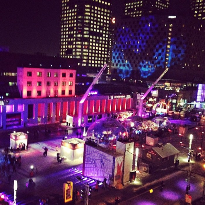 montreal, quebec, canada, lights, festival, winter festival