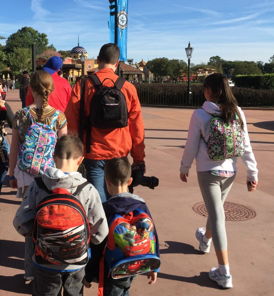 Disney World on a Budget, Backpacks, pack snacks, carry water