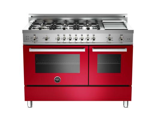 bertazzoni range in red