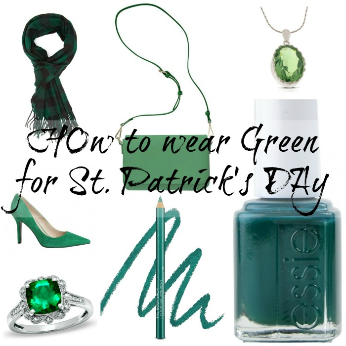 How to wear green on St. Paddy's day, essie, pumps, eyeliner, rings, scarves