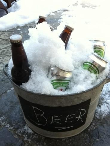Easter brunch, cold beer