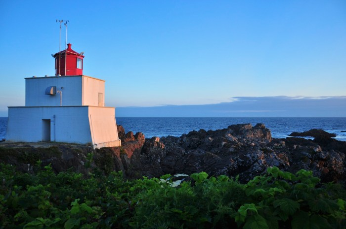Amphitrite Lighthouse on the Wild Pacific Trail.