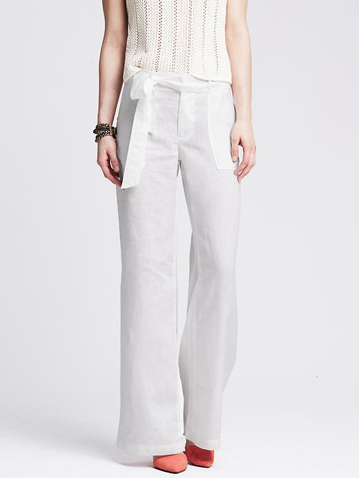 What to Wear to a White Party, white-party-banana-republic-linen-pants